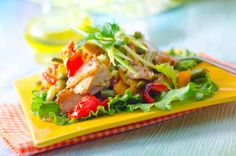 Grilled Chicken Salad with Lemon Zest and Cheese