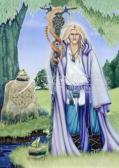 10 - Healing - Dreams of Gaia Tarot by tarot and oracle author and artist, Ravynne Phelan