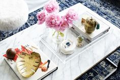 Make It Beautiful: How To Style the Perfect Coffee Table — Surface Style (Apartment Therapy Main) Coffee Table Styling, Coffee Table Books, Decorating Coffee Tables, Clean Living Rooms, Living Room Decor, Living Spaces, Clean House Schedule, Home Decor Trends, Decorative Items