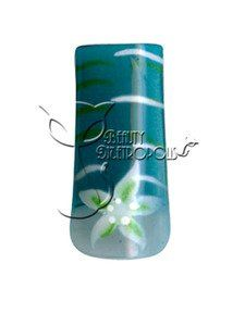 Teal Star Flower & Stripes Pre-designed Acrylic/UV Gel Artificial/False French Nail Tips (70 pcs.) by Beauty Metropolis. $9.99. Save time and effort while offering your clients intricate airbrushed nail designs that will keep them coming back.  Create a stunning set of designer french nails or file to the desired shape before applying clear acrylic or UV gel overlay.  Charge extra for designed tips and watch your income grow.  Includes 10 sizes, packed in clear bag.  Colors...