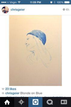 Chris Geier - blonde on blue