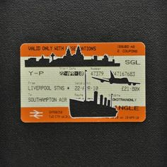 "Please Mind The Gap: Liverpool To Southampton Airport Cut Out Train tickets on canvas 2011 5""x 4"" £190 including frame"