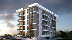 Project Ar iv - Kentsel D n m - Erkaya n aat Building Elevation, Building Facade, Building Design, Facade Design, Exterior Design, Small Buildings, Facade Architecture, Apartment Design, Modern House Design