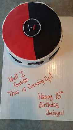 Twenty one Pilots vinyl LP birthday cake