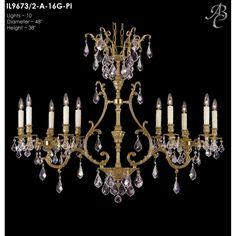 ABC Lighting Chateau 10 Light Crystal Chandelier   Wayfair