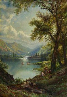 Edmund D. Lewis 1875, o/c, Hudson River School