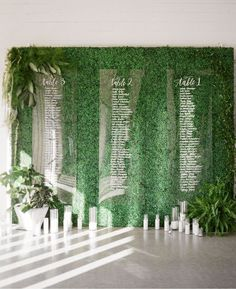 modern acrylic seating chart // would go Perfectly with our Acrylic Guest Book -www.clairemagnolia.com