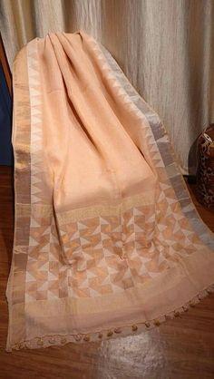 Linen zari jamdani Order what's app 7995736811