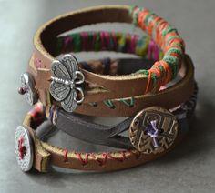 Lorelei's Blog - Thick leather bracelets