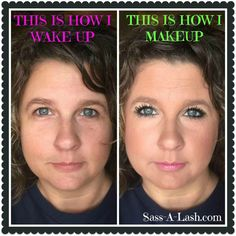 Ladies, I don't know about you, but I feel so much better about myself when I put my makeup on.  It may not be a necessity, but it makes all the difference in the world! I've challenged my team to post their wake up/makeup pics today, so.....this is how I wake up and how I makeup.   Are you brave enough to take the wake up/makeup challenge??? Post your pics in the comments below or tag me in your posts! #sassalash #thisishowiwakeup #thisishowimakeup #challenge