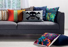 skull;floral;velvet;patchwork.
