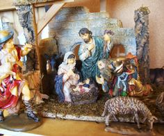 vintage nativity set 10 piece hand painted by susiestratford