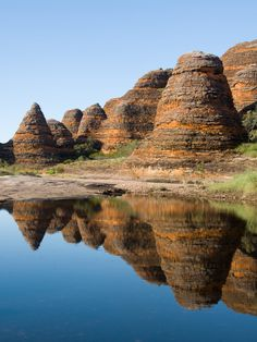 Western Australia is home to the Bungle Bungles, beehive shaped towers which formed nearly 375 million years ago and have been shaped by millions of years of rainfall.