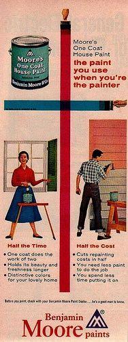 vintage Benjamin Moore paint ad