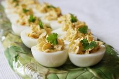 Bacon - Balsamic Deviled Eggs | Recipe Girl.  Sound delicious!