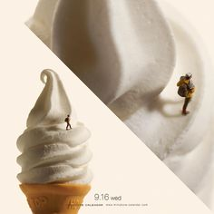 "« . 9.16 wed ""Soft ice climbing"" . 「雪山をなめんなよ!」 . . #ソフトクリーム #SoftIceCream »"