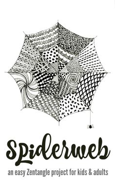 Zentangle spiderwebs - This would be fun for Halloween!