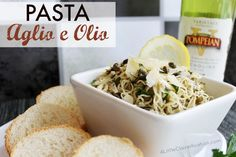 Pasta Aglio e Olio Recipe - A delicious, traditional Italian dish that is easy to make and packed with flavor.#recipe #PompeianVarietals #ad