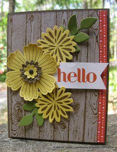 Canopy Crafts: Barn Door Sunflowers {PP188}, SU - Hardwood, Mixed Bunch, SimpleStems with coordinating Secret Garden Framelits