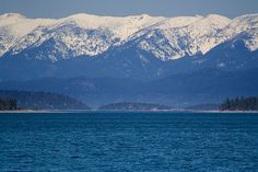 The view from my front deck...the far islands where we picnicked...the mountains where we hunted for Christmas trees...Flathead Lake, Montana - my heart is here...where my babies were born and raised....