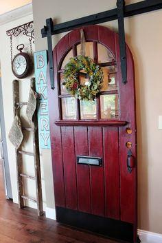 Hudson Valley NY custom built home tour - Debbiedoo's--Love this pantry door.