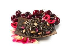 Snow Geisha White Tea at Teavana:  Luscious Morello cherries plucked straight from the billowing, gorgeous Sakura tree characterize this melodic Eastern treat. Sip this rare blend of delicate rose petals, soft white tea leaves, luscious cherries and candied cranberry that will take you on sublime journey of the senses. SUPERFRUIT ENHANCED