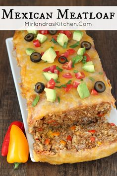 This easy dinner combines delicious Mexican flavors into a moist meatloaf with a cheesy top. It is weeknight friendly, taking only 10 minutes to prep. Make it with ground turkey or ground beef for a gluten free, high protein dinner!  It can be made as a freezer meal and leftovers heat up well.