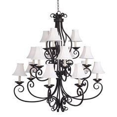 Maxim Lighting 12219OI 15 Light Manor Chandelier, Oil Rubbed Bronze  47.5 inches high