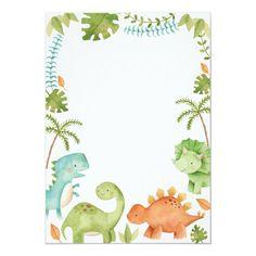 Dinosaur Birthday Cakes, Dinosaur Birthday Invitations, Baby Birthday, Birthday Party Themes, Die Dinos Baby, Baby Dinosaurs, Cute Dinosaur, Dinosaur Party, Baby Party