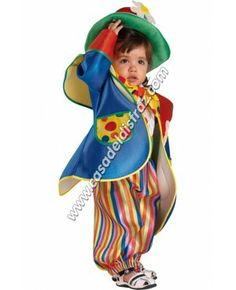 Disfraz de Payaso para Bebé. www.casadeldisfraz.com