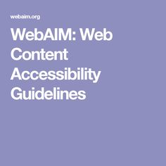 The Web Content Accessibility Guidelines (WCAG) are rules for web accessibility. Find out about the WCAG and what they mean for your site. Web Accessibility, Technology And Society, Learning Disabilities, Curriculum, Web Design, Content, Website, Resume