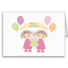 Happy Birthday Card Cards For Twins Twin Quotes
