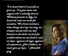 grey's anatomy quotes about love   Meredith Grey quote. Greys anatomy by stacy