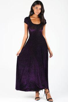 Burned Velvet Violet Vines Evil Maxi Dress – LIMITED ($140AUD) by BlackMilk Clothing