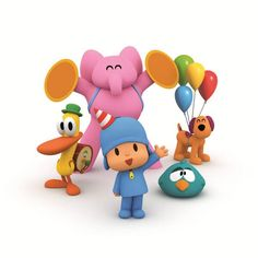 pocoyo party on Pinterest | 46 Pins 1st Birthdays, 3rd Birthday Parties, Diy Birthday, Happy Party, Bday Girl, Reveal Parties, Holidays And Events, Baby Shower, Crafts