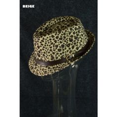 Fedora Hat Trend Fashion Fall Winter Hipster Leopard Print with Buckle Hat Beige $15 Only  www.monrevecollection.com