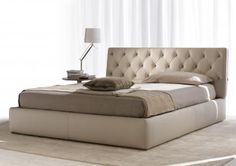 Tribeca leather bed
