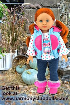 "SHOP over 600 styles for 18"" dolls and American Girl Dolls at Harmony Club Dolls <a href=""http://www.harmonyclubdolls.com"" rel=""nofollow"" target=""_blank"">www.harmonyclubdo...</a>"