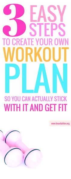 If you need a workout plan to lose weight or get fit, you better create your own! These steps will help you do that, so you can stick to that plan whether you're a beginner or advanced! | beautybites.org | Workout plan for women | Workout plan for beginners Gym Workout Plan For Women, Workout Plan For Beginners, Weight Loss Workout Plan, Weight Loss Goals, Beginner Workouts, Abs Workout Routines, Workout Schedule, Workout Plans, Workout Challenge