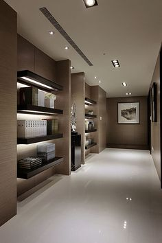 Private House in China, built-in corridor with warm tones _