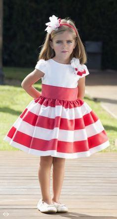 Anabel moda Frocks For Girls, Little Girl Dresses, Girls Dresses, Flower Girl Dresses, Toddler Dress, Baby Dress, Toddler Girl, Tween Fashion, Girl Fashion
