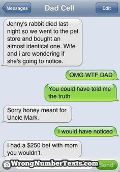 Check out Best Of Wrong Number Texts! We think #4 is hilarious!
