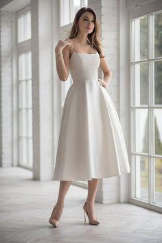 Civil Wedding Dresses, Black Wedding Dresses, Elegant Dresses, Pretty Dresses, Bridal Dresses, Beautiful Dresses, Short Dresses, Prom Dresses, Elegant White Dress