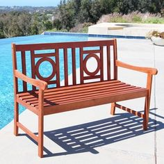 Shop for Malibu Eco-friendly 4-foot Outdoor Hardwood Garden Bench. Get free shipping at Overstock.com - Your Online Garden