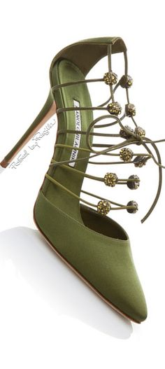 Manolo Blahnik ~ Spring Green Pumps, 2015 via Regilla