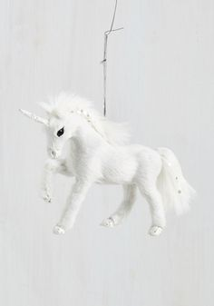Forest to Arrive Ornament in Unicorn. This plush tree ornament is the first to arrive among your holiday decor, and the last to be tucked away! #white #modcloth
