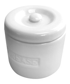 This definitely looks better than the classic folgers can of grease by the stove, lol! Porcelain Grease Container #zulilyfinds