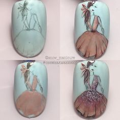 The Best Nail Art Designs – Your Beautiful Nails Beautiful Nail Designs, Cute Nail Designs, Beautiful Nail Art, Diy Nails, Cute Nails, Uñas One Stroke, Vintage Nails, Girls Nails, Foto Art