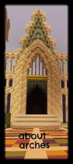 Tutorial series about building - part 2: about arches. variant: gothic Arches, Minecraft, Gothic, Tower, Building, Goth, Rook, Computer Case, Buildings