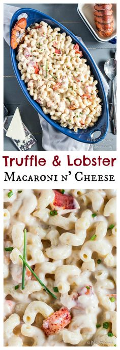 Creamy 3 Cheese Macaroni studded with chunks of Lobster Meat & Finished with Truffle Oil.